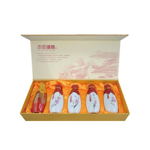 桃花缘精品礼盒150mlX5玉祁糟烧